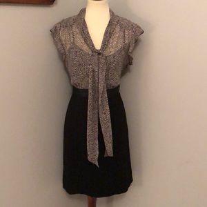 Ann Taylor LOFT Flutter Sleeve Dresss